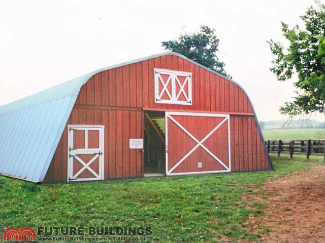 Steel barns quonset buildings by future buildings for Metal barn construction