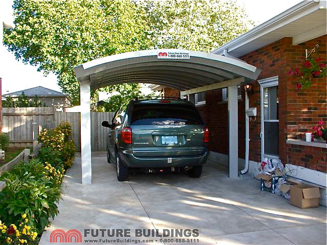Metal carport kits steel shelters by future buildings for Carport 1