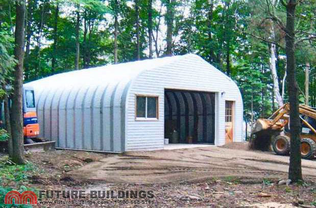 Steel garage kits by future buildings future buildings for Garage building kits canada