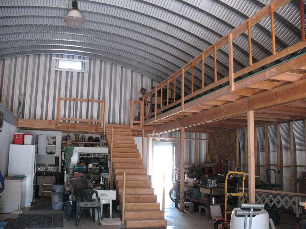A steel building home with room for fun future buildings for How to build a mezzanine floor in a garage
