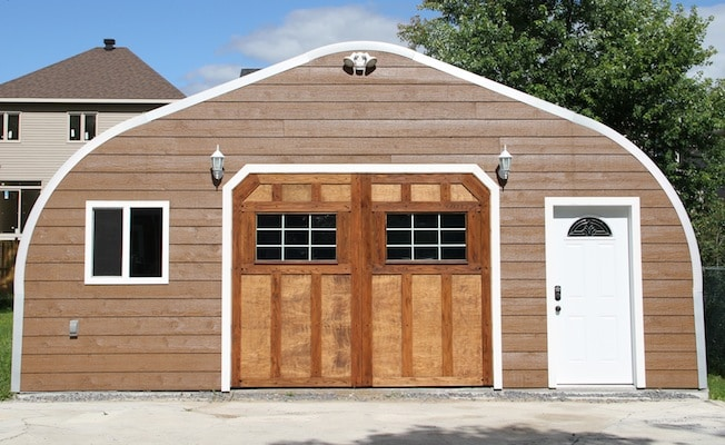 Customizing the exterior of your steel building with wood