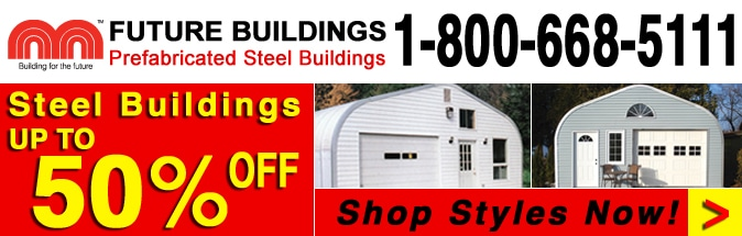 50% Steel Building Kits