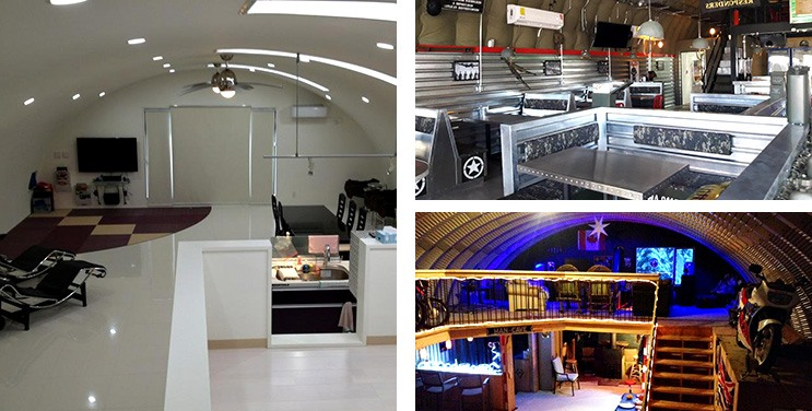 Custom Steel Clubhouse & Custom Restaurant Steel Building Kit & Man Cave Interior